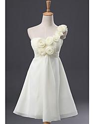 Feminina Shoulder Solo Vestido de Noiva Flor