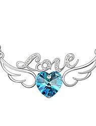 amore angelo ali di alta qualità collana pendente di cristallo