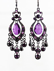 Kayshine New Design Purple Fashion Ladies Pandent Drop Earring