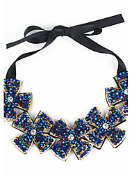 Mulheres Collar Bohemia Diamantes completa Cristal