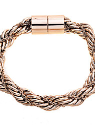 Fashion Gold Tone Rope Braided Bracelet