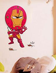 Rouge de bande dessinée Spider-man 3D Horloge murale Autocollants
