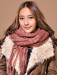 Xiaerbeiluo Ordinary Knitted Scarf(Pink)