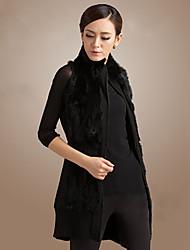 gilet de fourrure de lapin couverture col fourrure et tricot veste casual / partie (plus de couleurs)