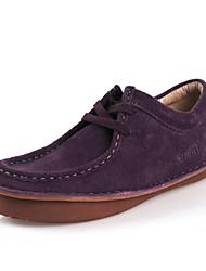 Cuir de la main Simul Suede Chaussures ascenseur (Violet)