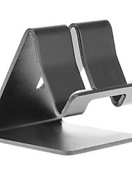 Sostenedor del metal de aluminio Soporte de escritorio para Universal Mobile Phone (Negro)