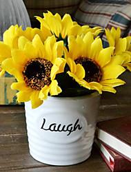 """6 """"H Modern Style Sonnenblumen in der Vase aus Keramik"""