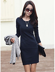 JANE FANS Long Sleeve Slim Big Size Dress