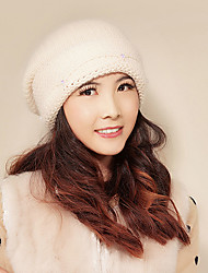 Xiaerbeiluo Stylish Wool Blend Knitted Hat(Cream)