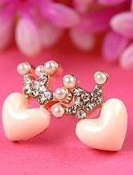 Mulheres bonito design brincos coração