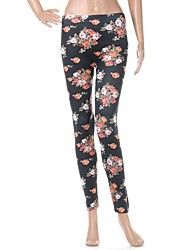 Women's Fashion Rose Flower Legging