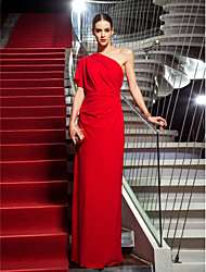 TS Couture® Formal Evening / Military Ball Dress - Ruby Plus Sizes / Petite Sheath/Column One Shoulder Floor-length Jersey