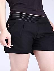 Mulheres Mid cintura reta Shorts