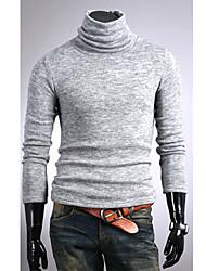 Shangdu High Neck Pluche Dieptepunt Knitwear (licht grijs)