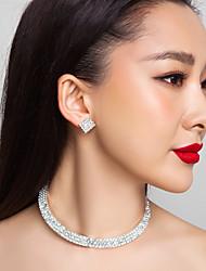 de haute qualité en alliage tchèque strass mariage collier plaqué et mis des bijoux boucles d'oreilles