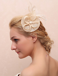 Women's Feather Fabric Headpiece-Casual Flowers