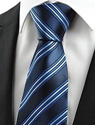 """Cravate d'affaires Souvenirs nouvelles rayures Dard bleu-clair """"des hommes classiques"""