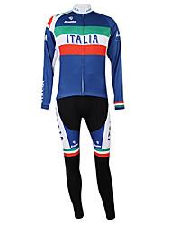 Kooplus2013 Campeonato Jersey Itália poliéster e Lycra e tecido elástico Ciclismo Suits (camisa + Bib-calças)