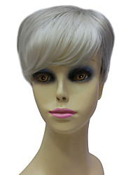 Capless Synthetic Short Grey Personality Straight Hair Wig