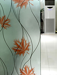 Trees/Leaves Country Window Film,PVC/Vinyl Material Window Decoration