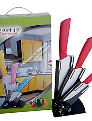 """Ceramic Knife Sets, 4""""/5""""/6"""" inch Knives +Peeler + Holder"""