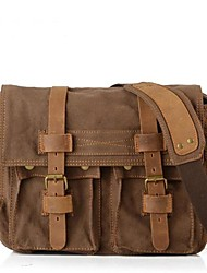 New  Vintage Canvas Mens Women Leather Rucksack Shoulder Messenger Satchel Book Bag