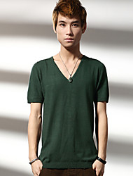 Men's Short Sleeve T-Shirt , Cotton Casual