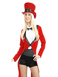 Sexy Circus Trainer Red Polyester Women's Carnival Party Costume