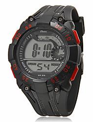 Herren-Multifunktions runden Zifferblatt Rubber Band LCD-Digital-Sport-Uhr (Farbe sortiert)