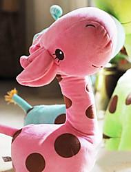 bonito girafa rosa dos desenhos animados travesseiro novidade