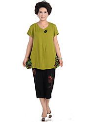 De las mujeres del estilo chino Causal Suit (camiseta y pantalones)
