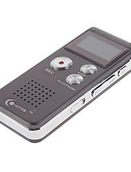 Co-crea 8GB 3D Sound MP3 PlayerFM Tuner Professional Digital Gravador de Voz Roxo