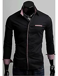 Noir pur shirt Couleur Loisirs manches longues A & W Hommes