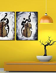 Натянутым холстом печати Art People играет на виолончели комплект из 2
