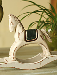 """6.25 """"H Country Style White Horse collection"""