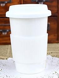 Pure White Coffee Mug, Porcelain 13oz