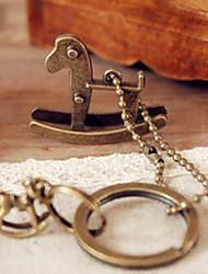 Hobbyhorse Bronze Keychain