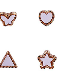 YeManNvYou®10PCS Lovely Have Mutual Affinity Series 3D Metal Crystal Nail Decorations No.13-17 (Assorted Colors)