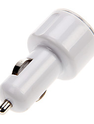 Car Charger For Cellphone -Dual USB Port (White)