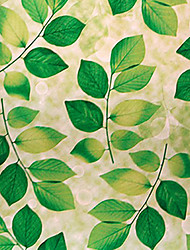 País fresco Estilo Folhas Verdes Pattern Window Film