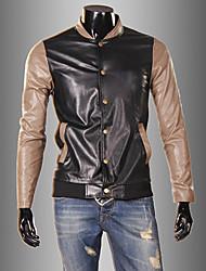casual correspondance des couleurs veste pu hommes