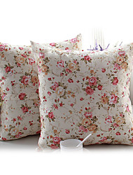 paesi fiori di fantasia cuscino decorativo con inserto