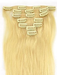 15 Inch 7Pcs 70g Clip in  Human Human Hair Extension Straight Multiple Colors Available