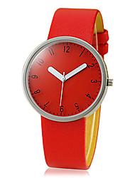 Women's Simple Design PU Band Quartz Analog Wrist Watch (Assorted Colors)