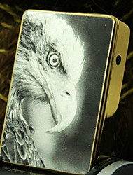 Personalized Father's Day Gift Eagle Pattern Gold Engraved USB Electronic Lighter