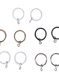 Modern Minimalist Curtain Bronze Clip Ring - 10pcs (Diameter 3.4cm)