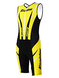 KOOPLUS - Triathlon Yellow+Black Sleeveless Wear and Shorts Conjoined Cycling Clothing
