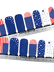 -Ponta completa 28PCS Bandeira Nail Art Stickers decalques