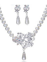 Wedding Pearl Jewelry Set(Earrings & Necklace)