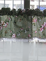"""Classic Country Green Floral Valance (12 """"L × 57"""" W)"""